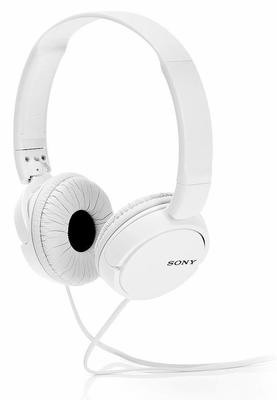 Sony MDR-ZX110 On-Ear Stereo Headphones, White, without mic