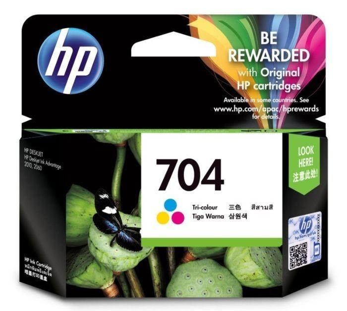 HP 704 Ink Cartridge, Tri Color