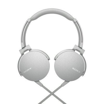 Sony Extra Bass MDR-XB550AP On-Ear Headphones, White