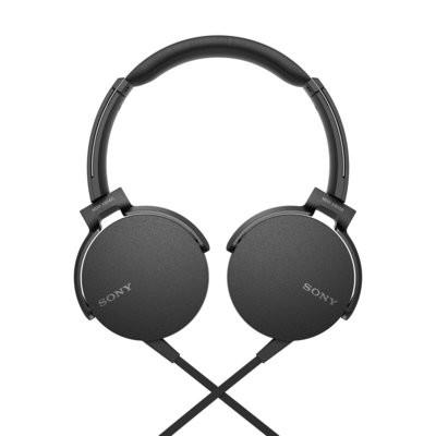 Sony Extra Bass MDR-XB550AP On-Ear Headphones, Black