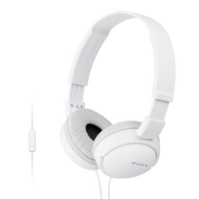 Sony MDR-ZX110AP On-Ear Stereo Headphones, White