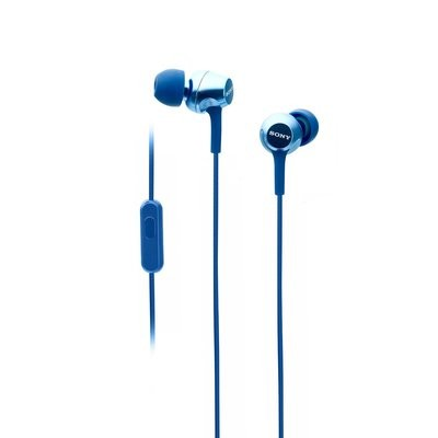 Sony MDR-EX255AP in-Ear Headphones with Mic, Blue