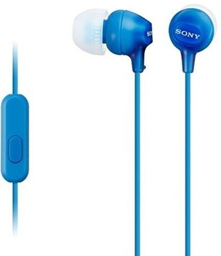 Sony MDR-EX15AP In-Ear Stereo Headphones with Mic, Blue