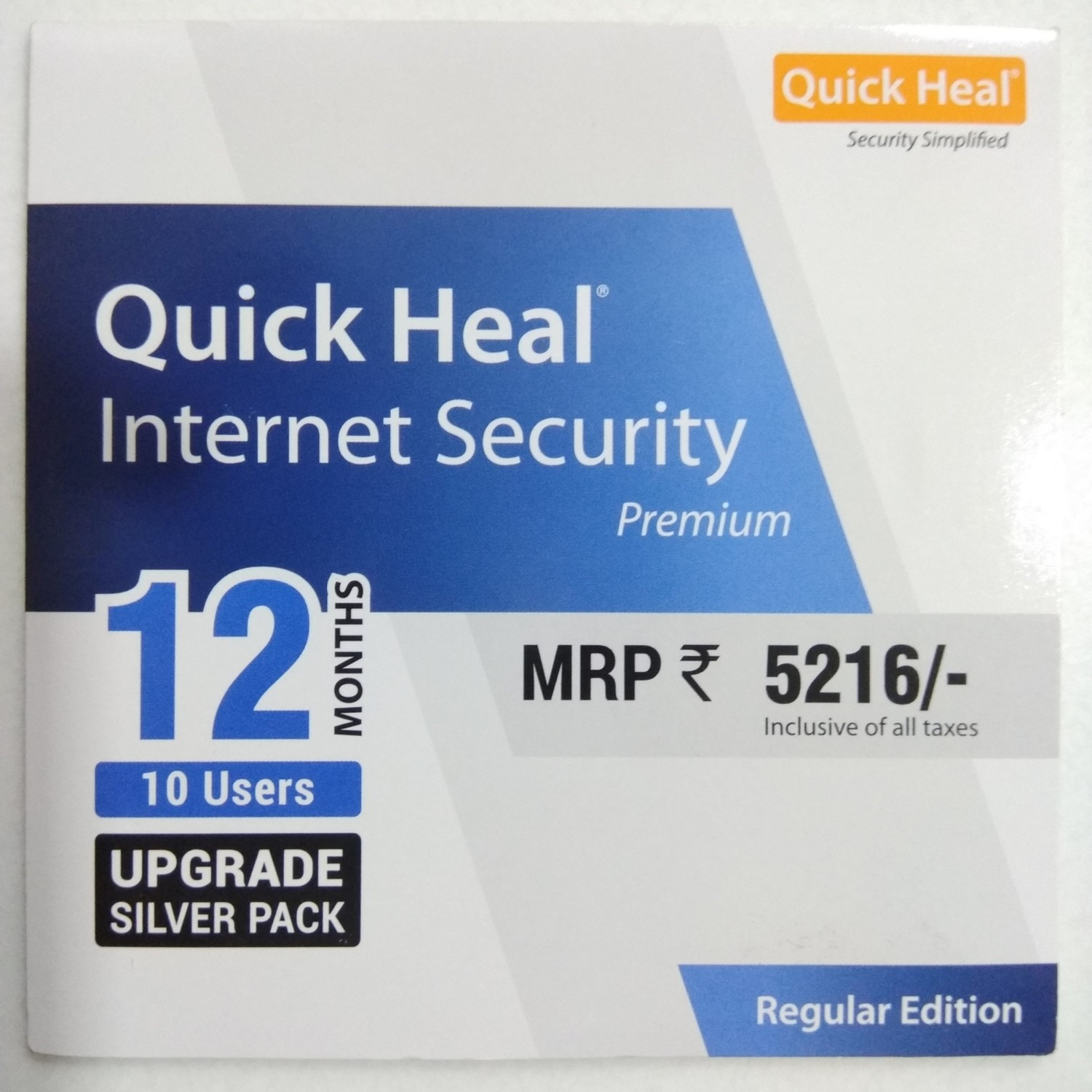 Upgrade Pack, 10pc, 1year, Quick Heal Internet Security