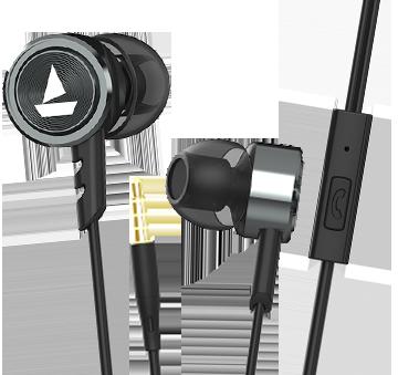boAt BassHeads 122 Wired Earphone, Gun Metal