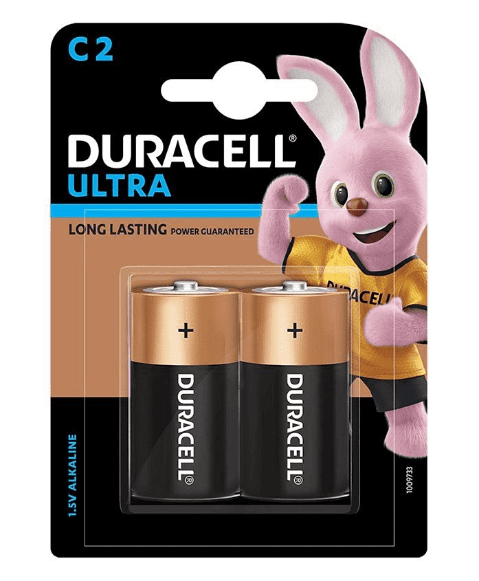 Duracell Ultra C, 2 Batteries