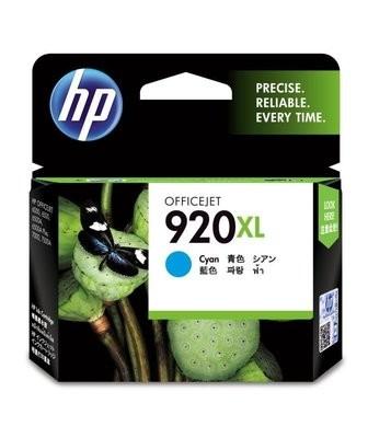 HP 920 XL Ink Cartridge, Cyan, CD972AA