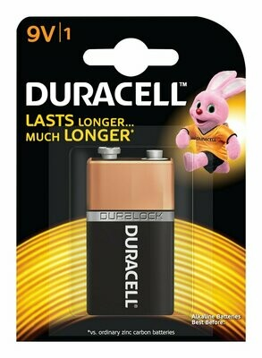 Duracell Alkaline 9V, 1 Battery
