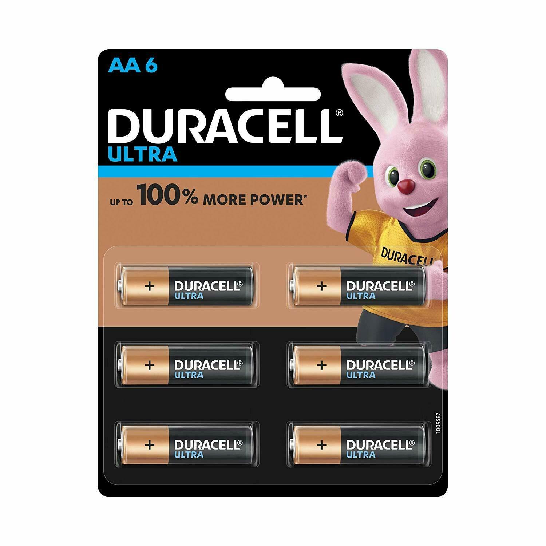 Duracell Ultra Alkaline AA, 6 Batteries