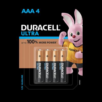 Duracell Ultra AAA, 4 Batteries