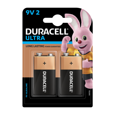 Duracell Alkaline 9V, 2 Battery