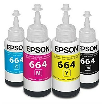 Epson 664 ink Bottle, For l310, l350, l355, l360, l361, l365, l380