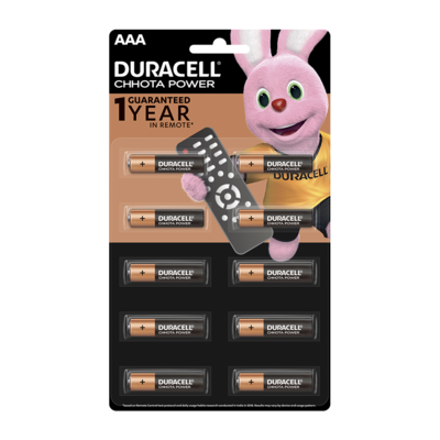 Duracell Chhota Power, AAA, 10 Batteries, 1.5V Alkaline