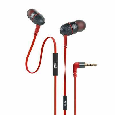 boAt Bassheads 228 Earphones, Red