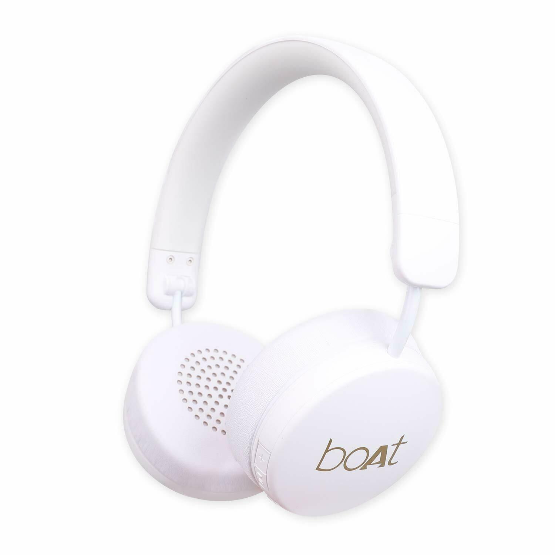 boAt Rockerz 440 Wireless Bluetooth Headset, White