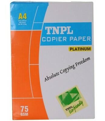TNPL Copier Paper - A4, 500 Sheets, 75 GSM, 1 Ream