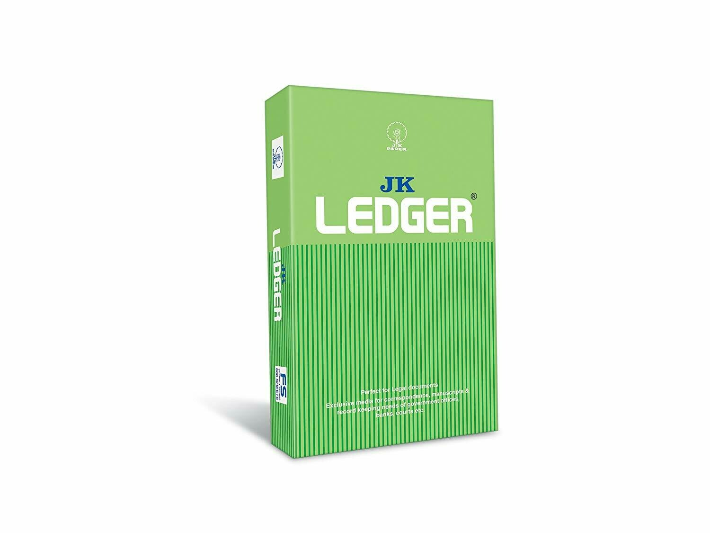 JK Ledger Paper - FS, 500 Sheets, 90 GSM, 1 Ream