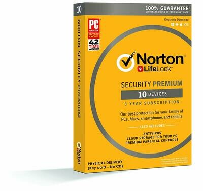 Norton Security Premium, 10 Devices, 36 months