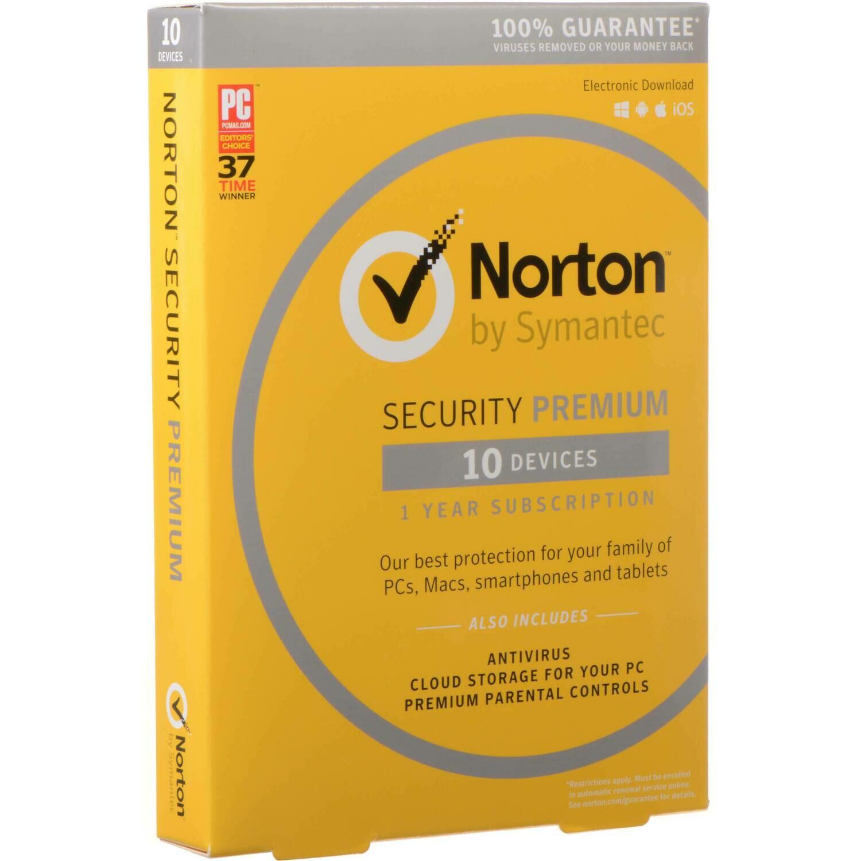 Norton Security Premium, 10 Devices, 12 months