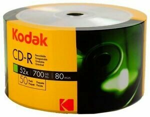 Kodak CD-R Blank Discs, Pack of 50-discs
