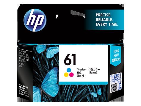 HP 61 Ink Cartridge, Tri-Color, CH562WN