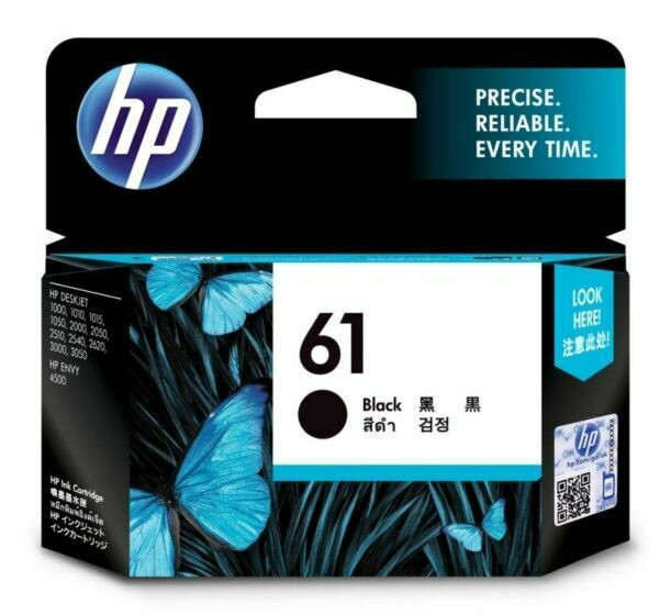 HP 61 Ink Cartridge, Black, SD549AA