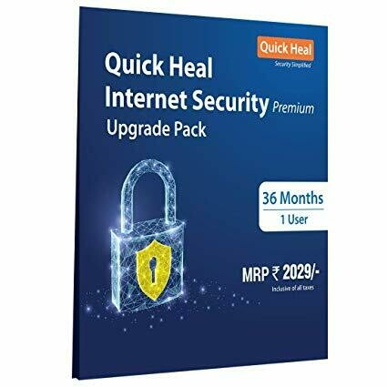 1 User, 3 Year, Upgrade Pack, Quick Heal Internet Security