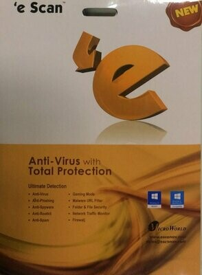 5 User, 1 Year, eScan Anti-Virus with Total Protection, V-11.x