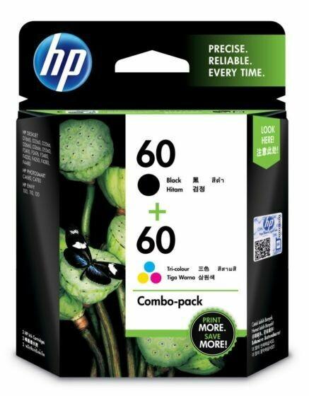 HP 60 Ink Cartridge, Combo Pack