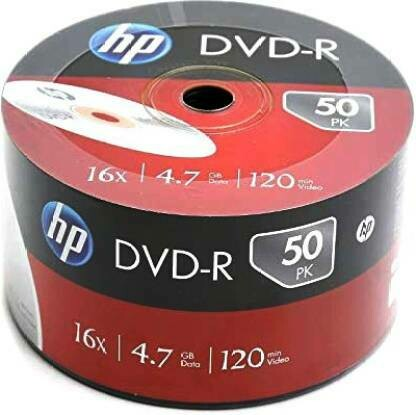 HP DVD Recordable DVD-R 4.7GB 50 Pack, Wrap