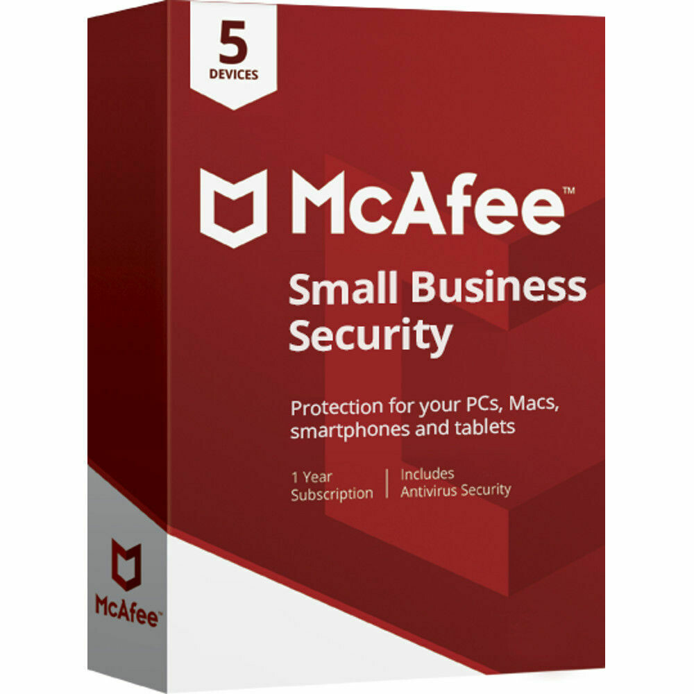 5 Device, 1 Year, McAfee Small Business Security