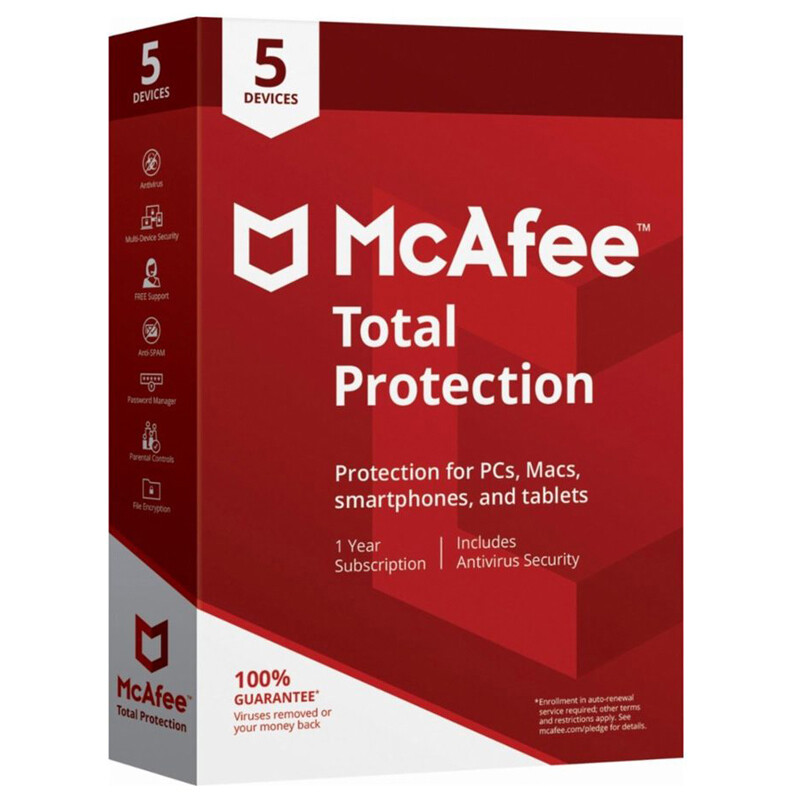 5 User, 1 Year, McAfee Total Protection