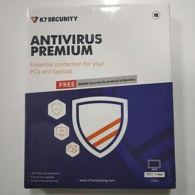 5 User, 1 Year, K7 Antivirus, Premium