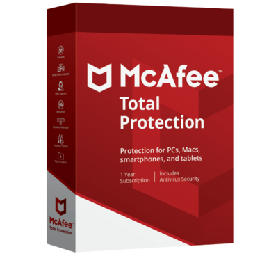 3 User, 1 Year, McAfee Total Protection
