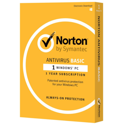 Norton Antivirus Basic, 1 Device, 12 Months