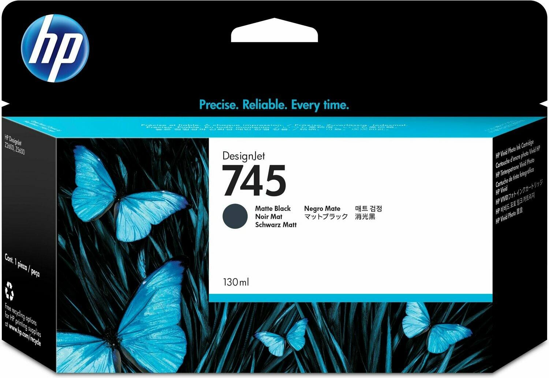 HP 745 Ink Cartridge,Matte Black, 130ml