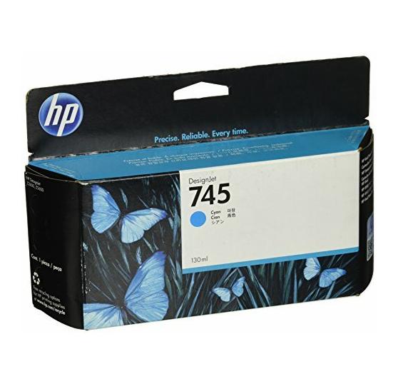 HP 745 Ink Cartridge, Cyan, 130ml