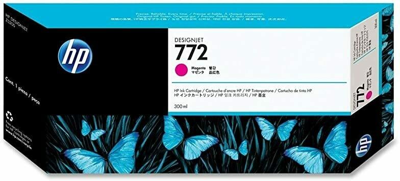 HP 772 Ink Cartridge, Magenta, 300ml