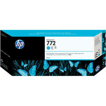 HP 772 Ink Cartridge, Cyan, 300ml