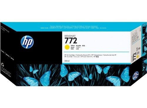 HP 772 Ink Cartridge, Yellow, 300ml