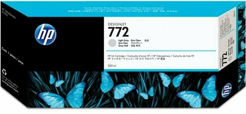 HP 772 Ink Cartridge, Light Gray, 300ml