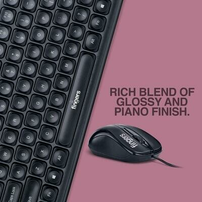 Finger's Velvet Combo C4 Slim Multimedia Keyboard and Mouse