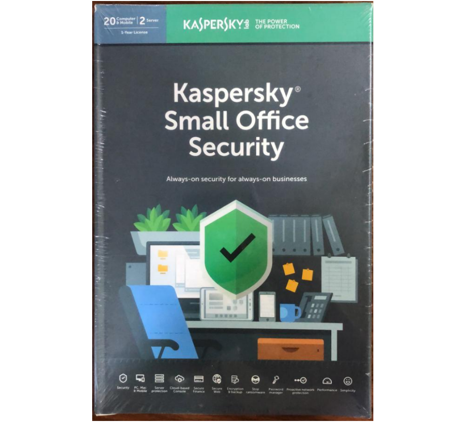20pc, 2Server, 20mobile, 1year, Kaspersky Small Office Security