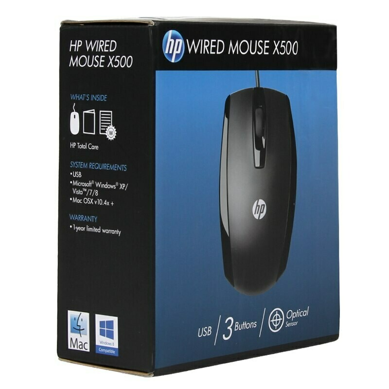 HP X500 Wired Optical Mouse