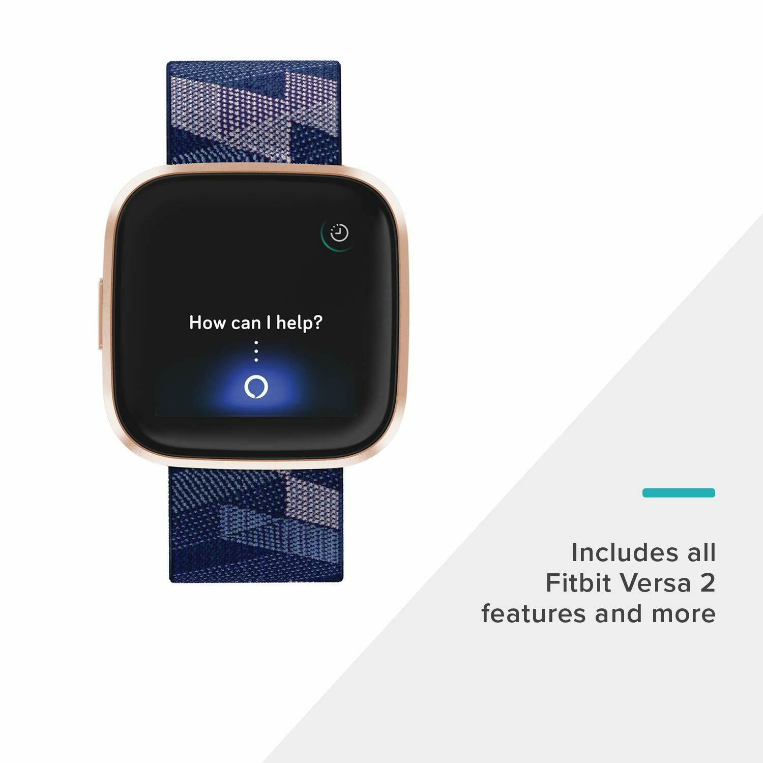 Fitbit FB507RGNV Versa 2 Special Edition Navy & Pink Woven