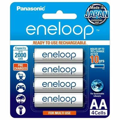 Panasonic eneloop AA Rechargeable Battery, Pack of 4