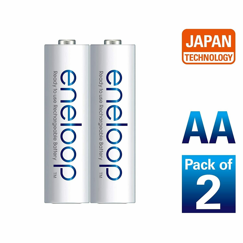 Panasonic eneloop AA Rechargeable Battery, Pack of 2