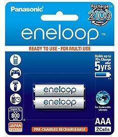 Panasonic Eneloop 800 mAh Rechargeable Battery, 2-Piece