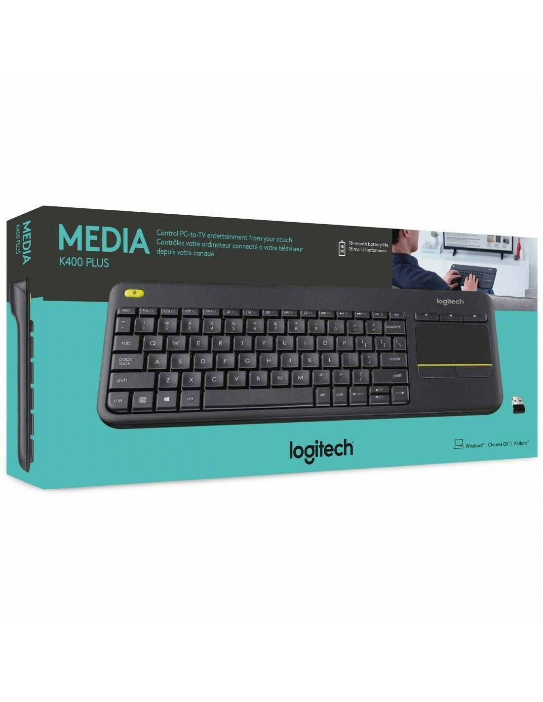 Logitech K400 Plus Wireless Touch Pad keyboard