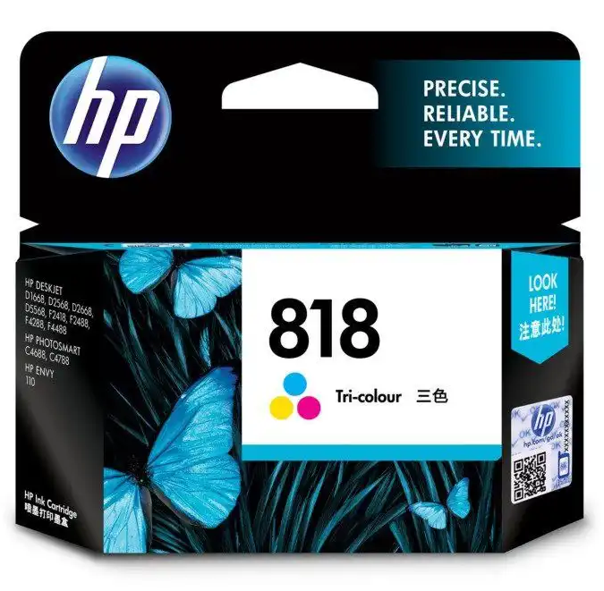 HP 818 Ink Cartridge, Tri Color, CC643ZZ